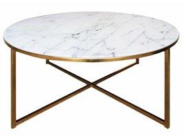 Ava salontafel marmerprint, goudkleurig onderstel