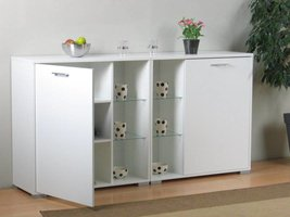 Set van 2 dressoirs Wega wit