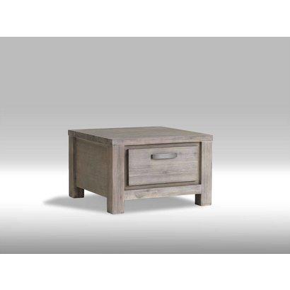 Alana bijzettafel acaciahout bruin 70x70 cm