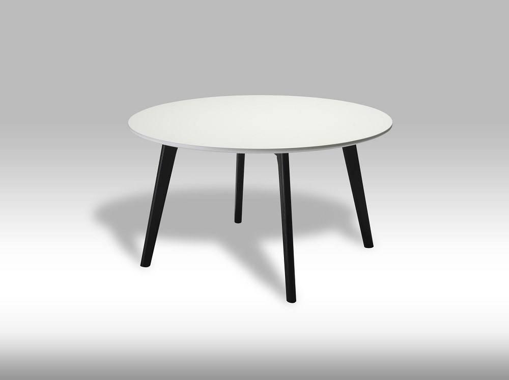Livie salontafel rond cm zwart wit