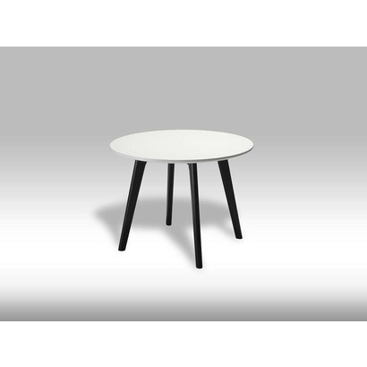 Livie salontafel rond 60 cm zwart/wit