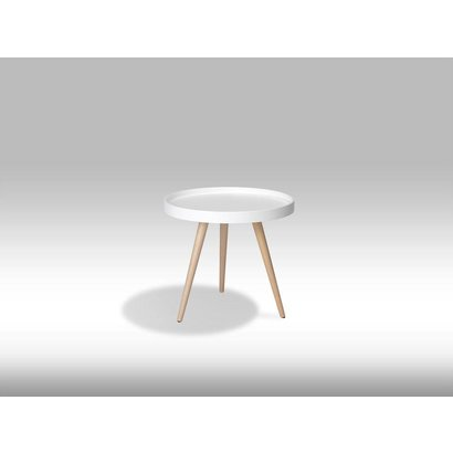 Osaka witte ronde salontafel 50 cm