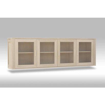 Glazen Wand Vitrinekast.Solliden Veneto Hangende Vitrinekast Eiken Met 4 Glazen Deurtjes