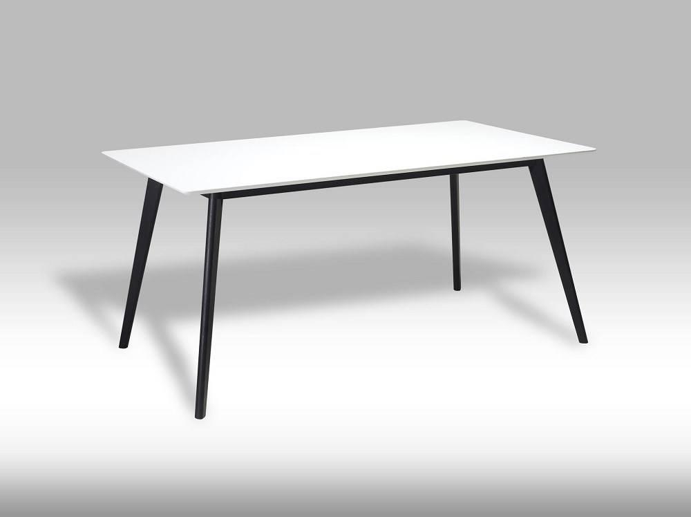 Eettafel Modern Wit.Livie Eetkamertafel 160x90 Cm Wit Met Zwarte Poten