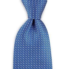 Premium Promotions Blauw-wit ruit zijde