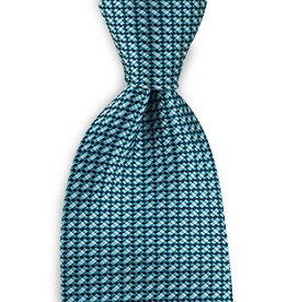 Premium Promotions Blauw-turquoise-wit ruit zijde