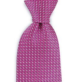 Premium Promotions Roze-magenta-wit ruit zijde