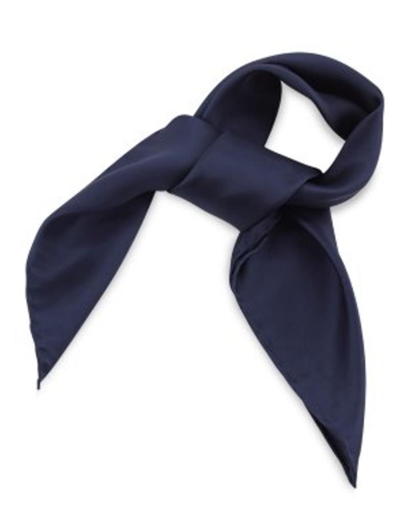 Premium Promotions Marineblauw 100% zijde 53x53cm