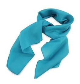 Premium Promotions Turquoise polyester 75x75cm