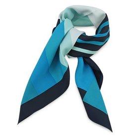 Premium Promotions Blauw-turquoise-wit polyester 80x80cm
