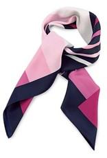 Premium Promotions Blauw-roze-wit polyester 80x80cm