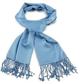 Premium Promotions Pashmina 70x180cm lichtblauw