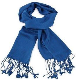 Premium Promotions Pashmina 70x180cm kobaltblauw
