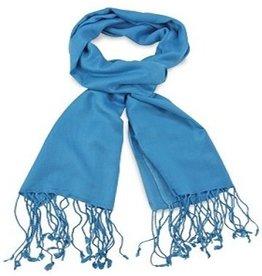 Premium Promotions Pashmina 70x180cm process blue