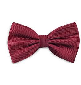 Premium Promotions Strik polyester repp bordeaux rood