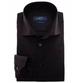 LCF Overhemd 100% katoen non-iron zwart MF