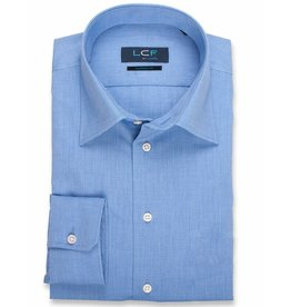 LCF Overhemd 60-40 middenblauw ML7
