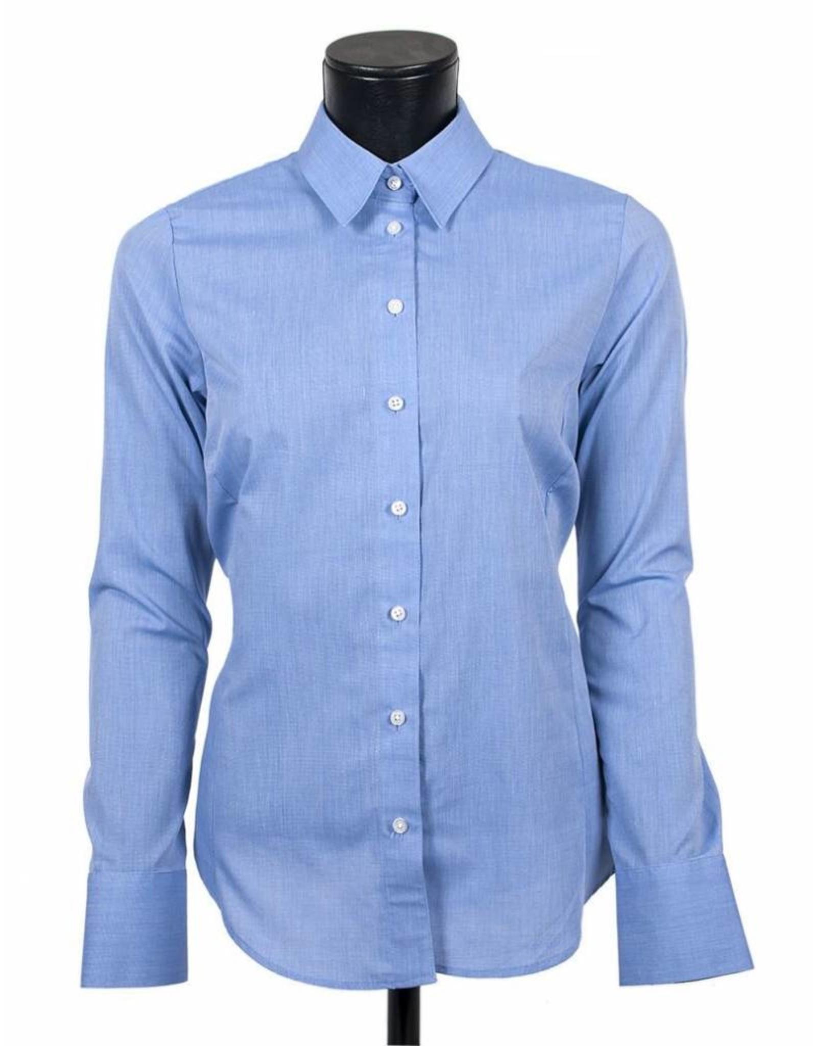 LCF Blouse 60% katoen 40% polyester middenblauw