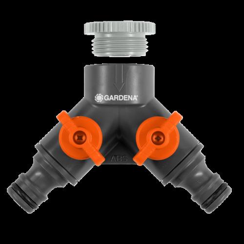 Gardena 2-weg ventiel 1/2'' - 3/4''