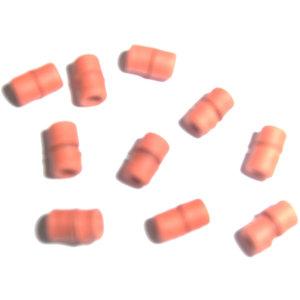 Gekrulde top rubbers 10 stuks medium