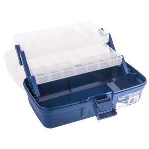 Jarvis Walker 2-Tray Blue/Clear Tackle Box
