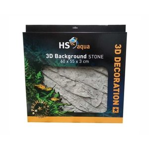 Hs Aqua 3D Background Stone Grey  60x55x3 cm