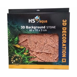 Hs Aqua 3D Background Stone Brown 60x55x3 cm