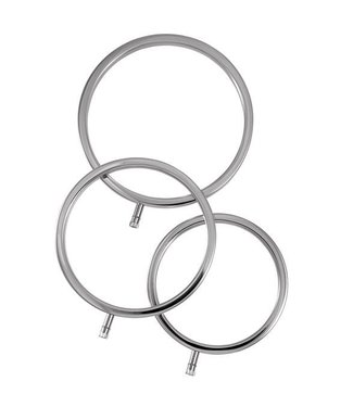 ElektraStim Solid Metal Scrotal Ring Set 3 Sizes