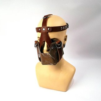 Your Lifestyle Handmade Metal Spit Mask - Brown