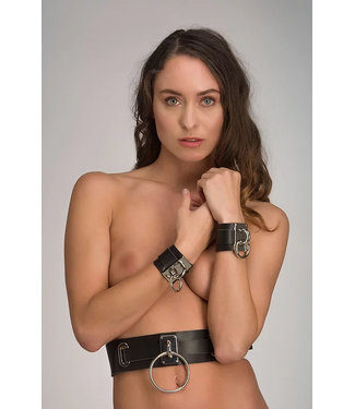 Voyeur X Leather bondage waist belt - Eternity