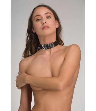 Voyeur X Leather bondage collar – Eternity