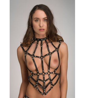 Voyeur X Leather bondage harness - Goddess