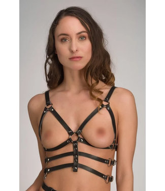 Voyeur X Leather open cup harness – Subjection