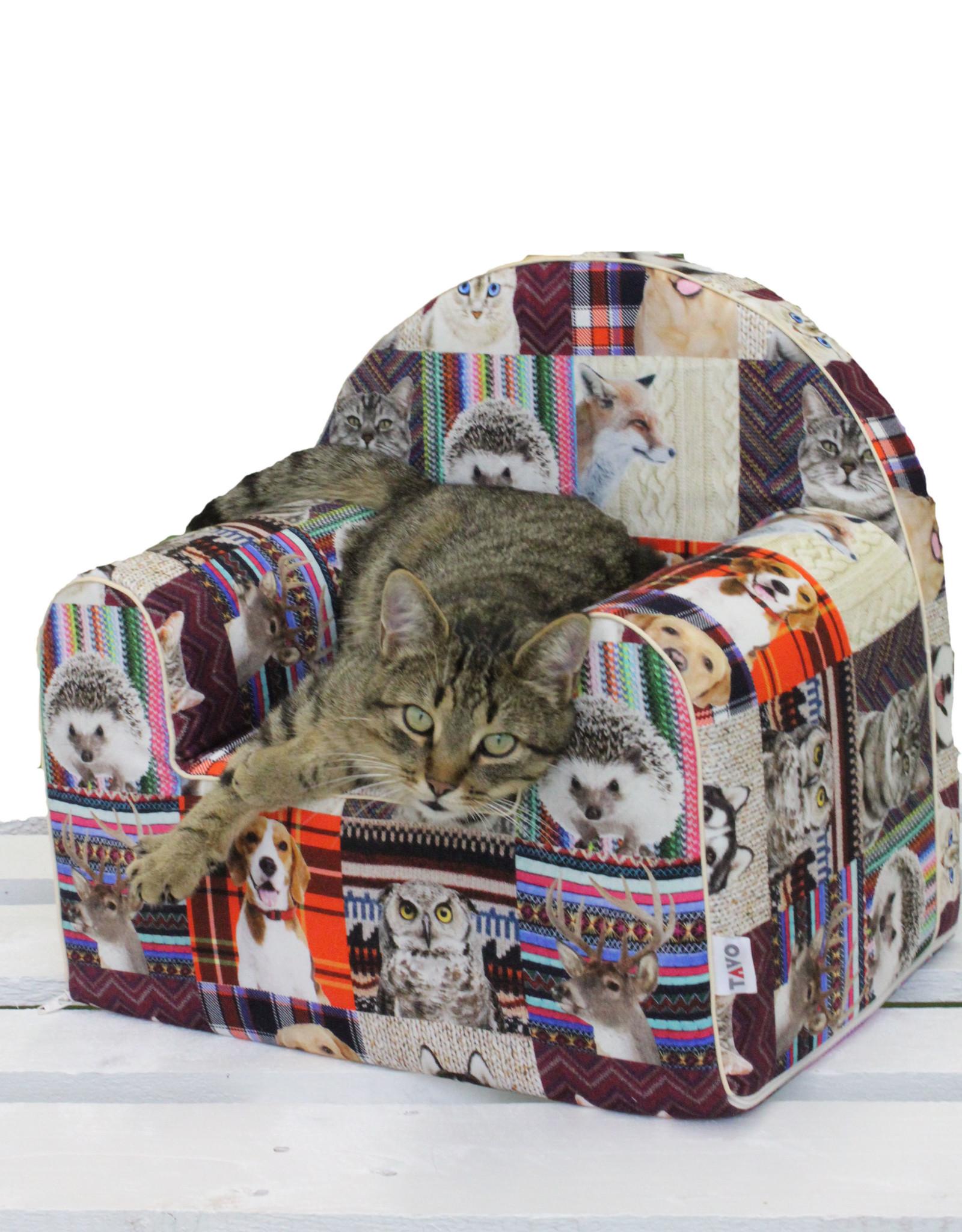 """TAVO TAVO Hunde-/Katzen-Sessel """"bunte Tiere"""""""