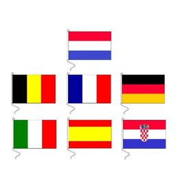 Hebor Watersport landenvlaggen 20 x 30 cm