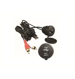 USB / RCA AUX inbouw kabel