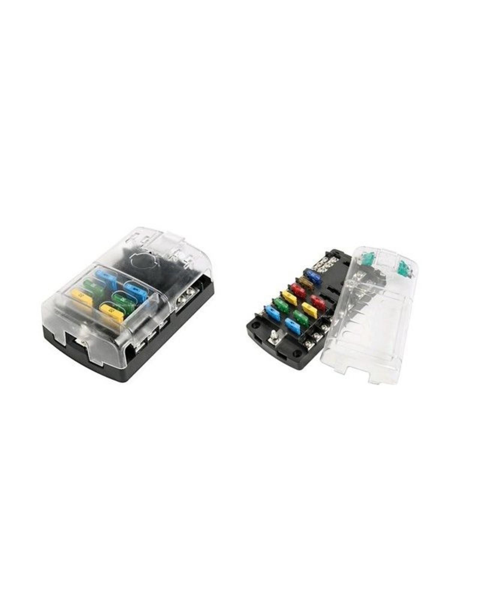 Zekering houder box 6 en 12 aansluitingen