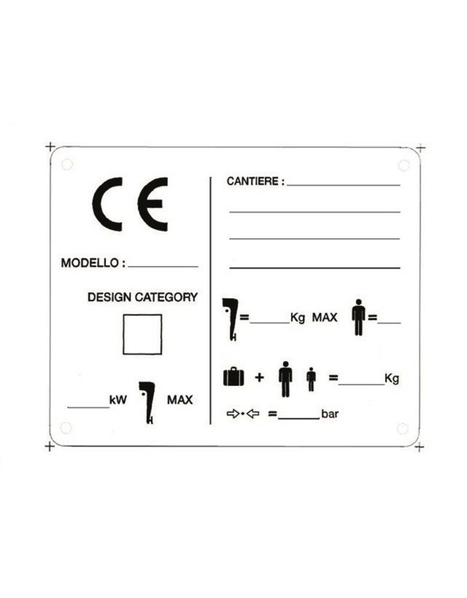 CE identificatieplaat 125 x 100