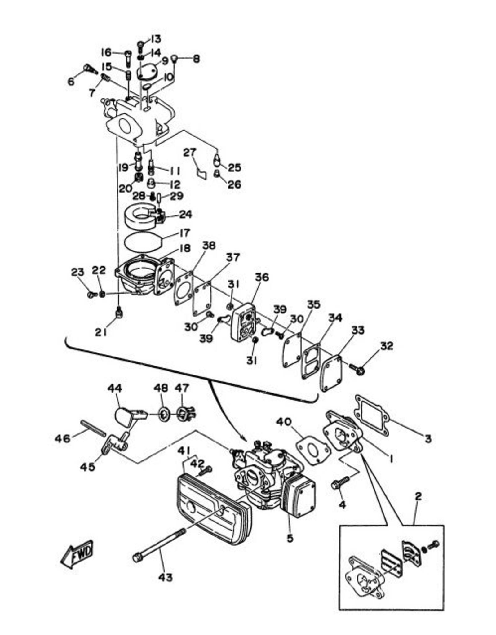 38. GASKET, FUEL PUMP 1 6G1-24431-01
