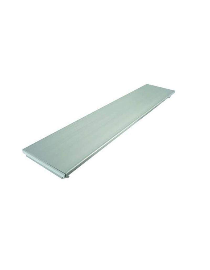 Aluminium bank L=100cm (eenvoudig in te korten indien nodig)
