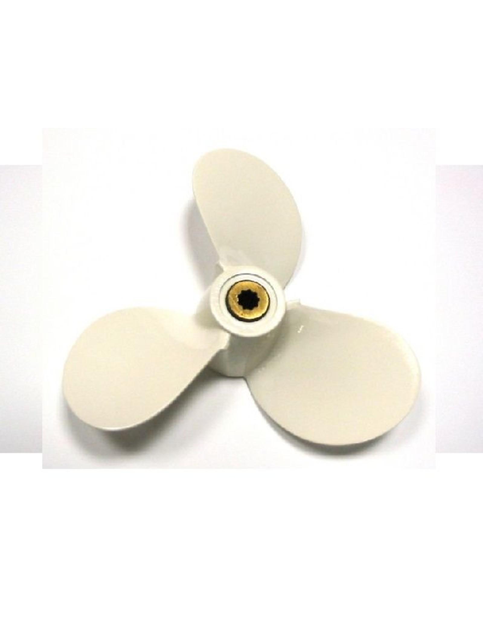 Hebor Watersport Aluminium propeller Yamaha 2.5 / 3 pk Hub BS