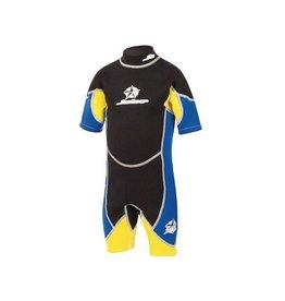 Hebor Watersport Jobe Shorty Flex kinder wetsuit blauw / geel