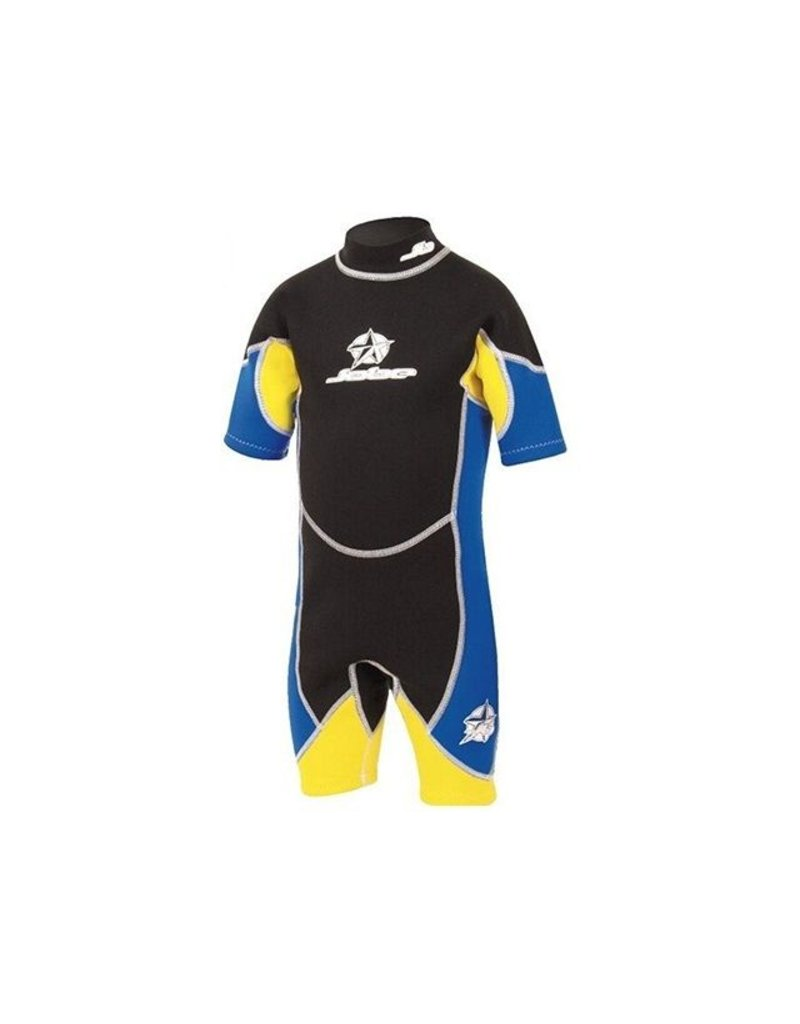 Hebor Watersport Jobe Shorty Flex kinder wetsuit blauw / geel