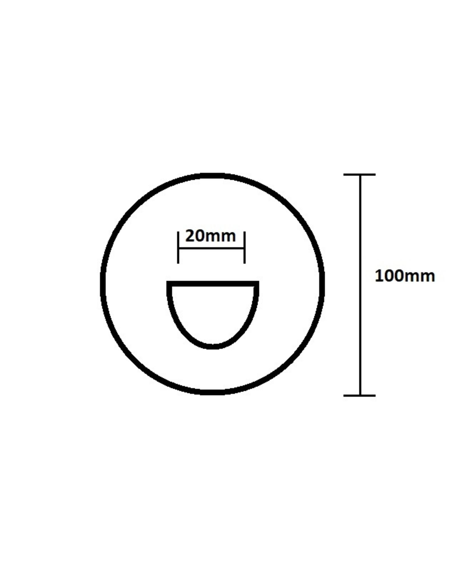 Hebor Watersport D-ring 20 mm klein Hypalon 10cm