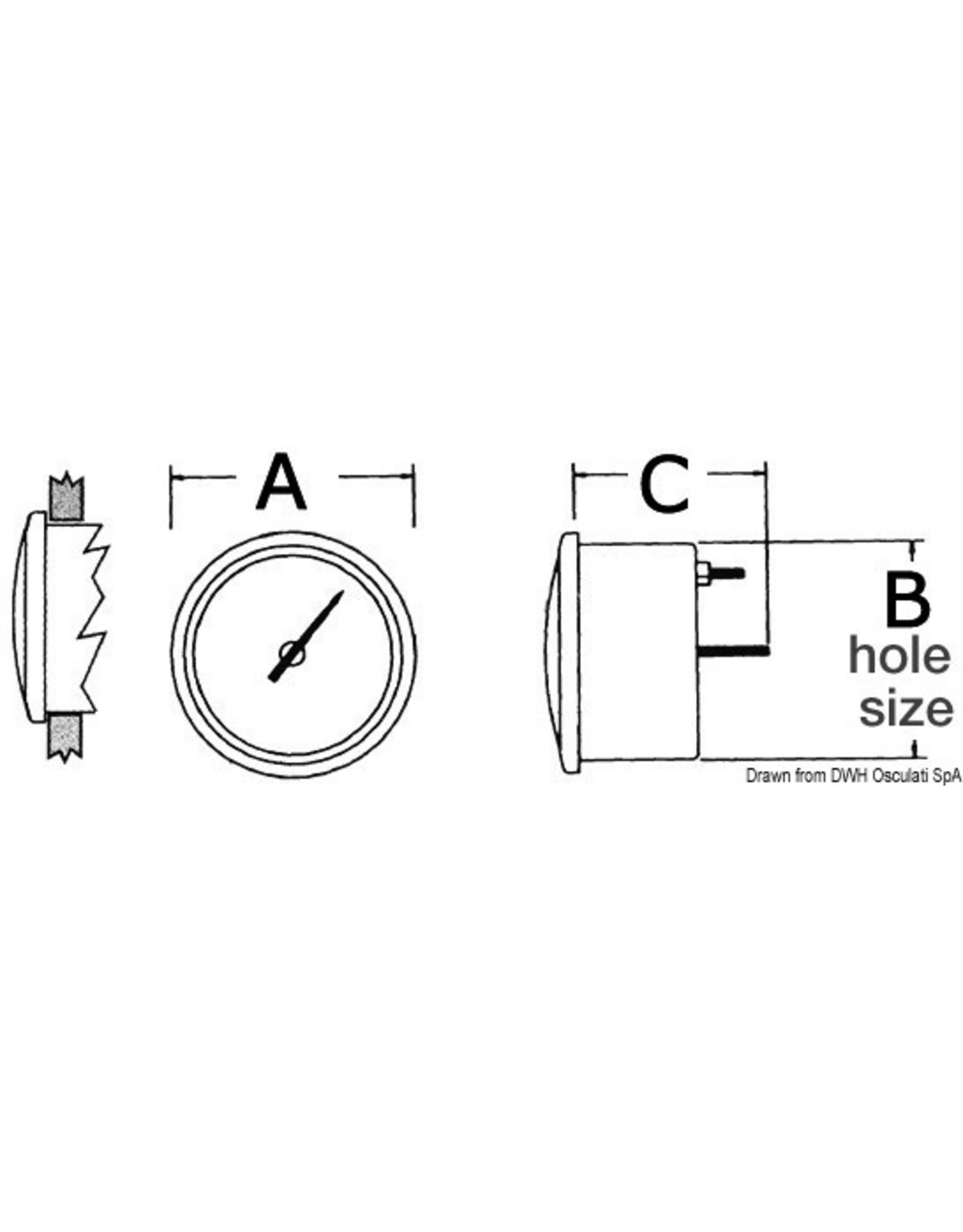 Osculati Snelheidsmeter 0-30/0-50 knopen