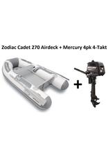 Zodiac Zodiac Cadet 270 Airdeck + Mercury 4pk 4-takt (Vaarbewijsvrij!)
