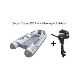 Zodiac Zodiac Cadet 270 Alu + Mercury 4pk 4-takt (Vaarbewijsvrij!)