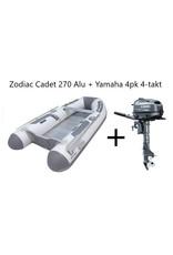 Zodiac Zodiac Cadet 270 Alu + Yamaha 4pk 4-takt (Vaarbewijsvrij!)