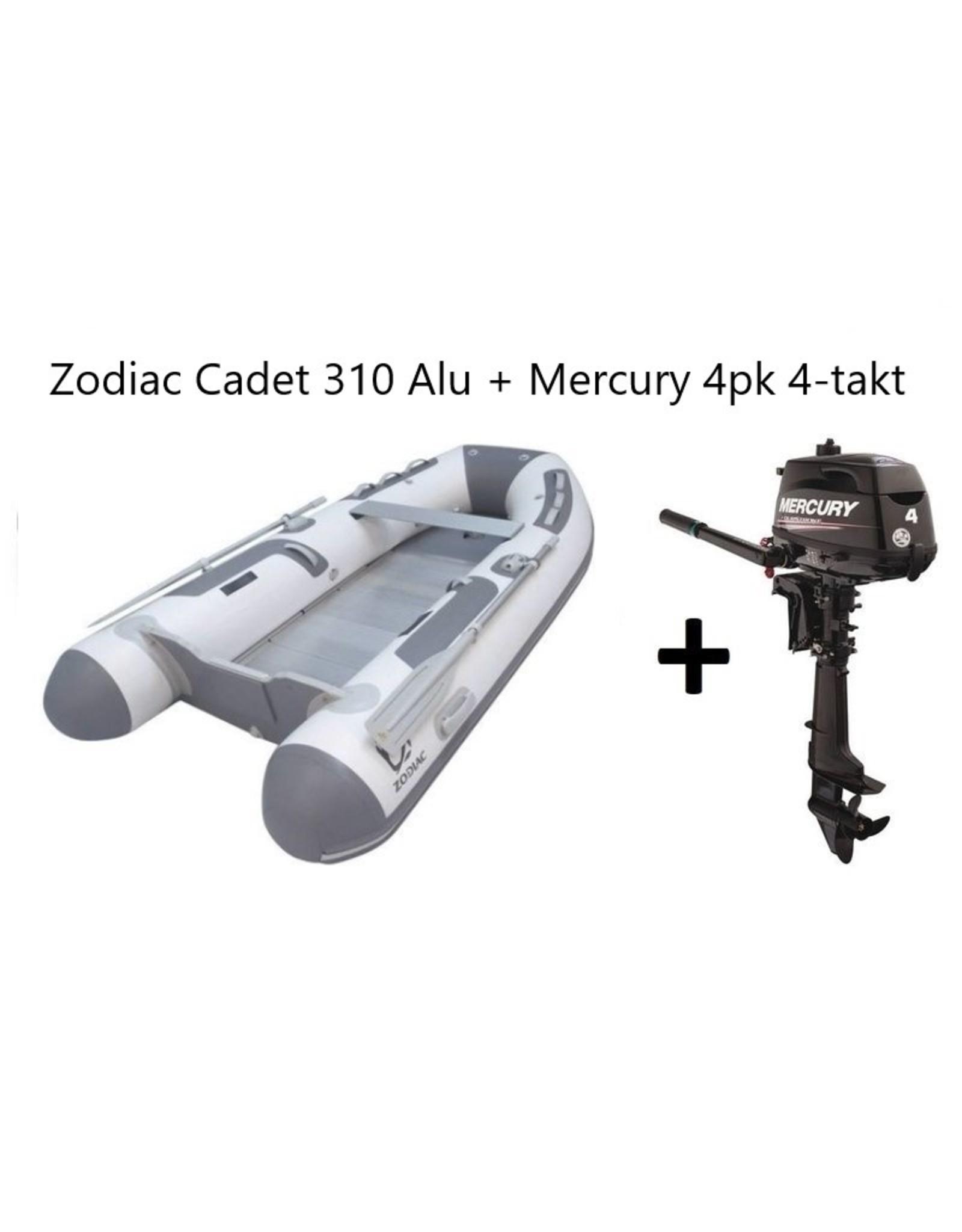 Zodiac Zodiac Cadet 310 Alu + Mercury 4pk 4-takt (Vaarbewijsvrij!)