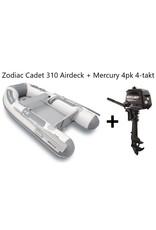 Zodiac Zodiac Cadet 310 Airdeck + Mercury 4pk 4-takt (Vaarbewijsvrij!)